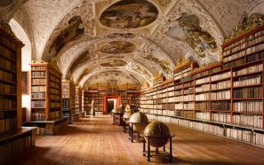 Knjižnica v samostanu Strahov v Pragi