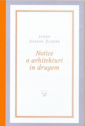 Naslovnica knjige Notice o arhitekturi in drugem