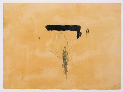 Antoni Tàpies: Le Main/Roka, akvatinta, 1972