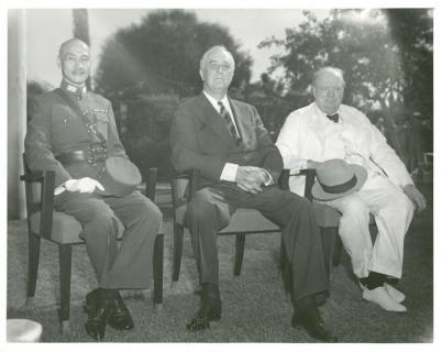 Čangkajšek, Franklin Roosevelt in Winston Churchill