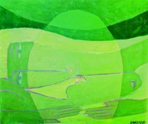 Rudolf Saksida: Poljub, 1955?