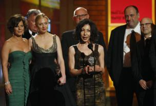 Yasmina Reza na podelitvi nagrade tony za igro Bog masakra