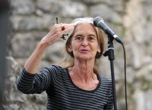 Maruša Krese (1947–2013) leta 2010 v Štanjelu