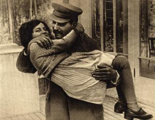 Stalin s hčerjo Svetlano Alilujevo