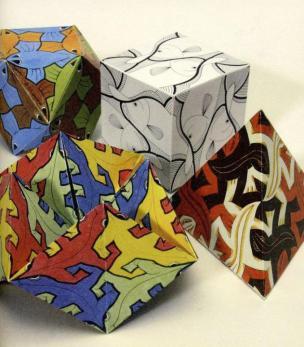 H. C. Escher: 14 sestavljivih izrezank iz papirja