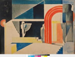 Avgust Černigoj: Skica za scenografijo, okoli 1926