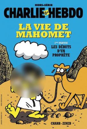 Januarska naslovnica francoskega satiričnega lista Charlie Hebdo