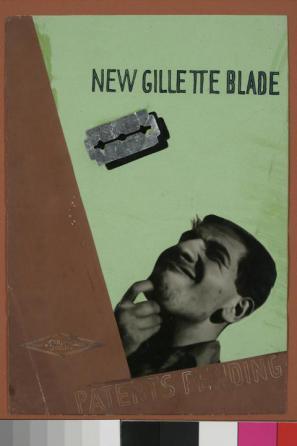New Gillette Blade Patents Pending, plakat, 1930