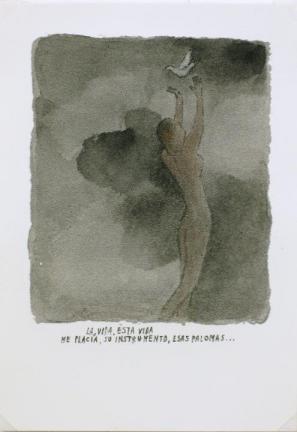 La, vida, esta vida …, 2011, 18 x 12,5 cm, mešana tehnika