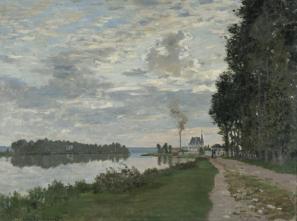 Promenada v Argenteuilu, 1872, olje/platno, 53 cm x 74 cm, zasebna zbirka