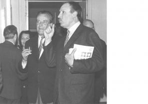 Miha Maleš in Zoran Mušič, junij 1967