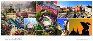 razglednica Ljubljane