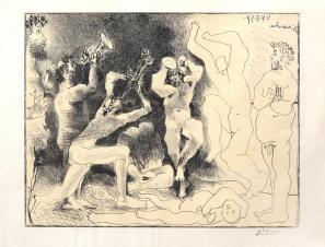Pablo Picasso, La Danse des faunes, 1957