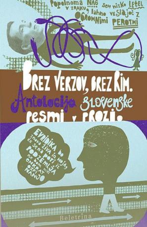 Naslovnica antologije Brez verzov, brez rim