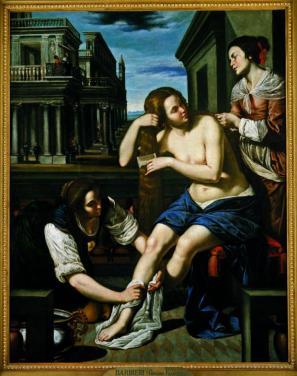 Betsabeja v kopeli, ok. 1636-39, olje/platno