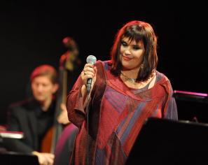 S koncertom v Križankah je Mia Žnidarič proslavila dvajsetletnico nastopanja.
