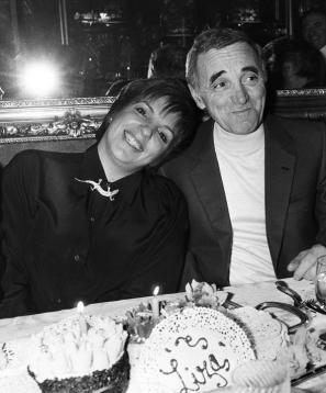 Liza Minnelli in Charles Aznavour, april 1986