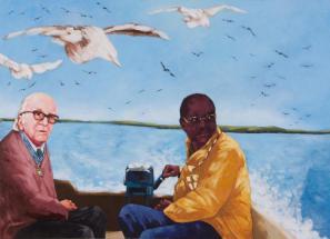 Gani Llalloshi, Perfect Strangers, 2011, akril na platnu, 200 x 150 cm