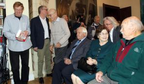 Na predstavitvi knjige v Društvu slovenskih pisateljev