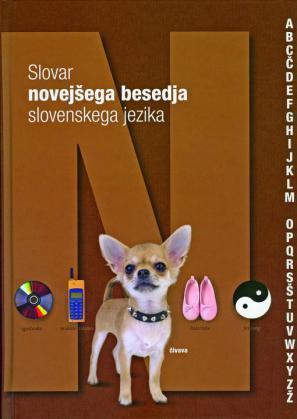 Naslovnica Slovarja novejšega besedja slovenskega jezika