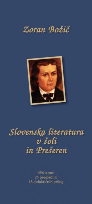 Naslovnica knjige Slovenska literatura v šoli in Prešeren