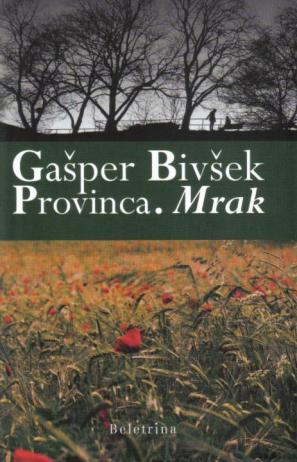 Naslovnica zbirke Provinca. Mrak
